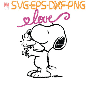 Peanuts Snoopy Woodstock mother's love, quotes,svg file for Cricut, Cameo,  svg, png, eps, dxf, digital download