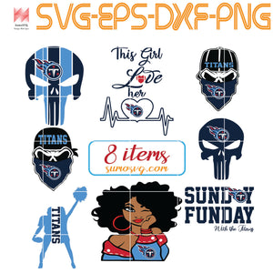 Tennessee Titans bundle svg, titans svg, titans girl svg, titans boy svg, titans mom svg, nfl svg, football svg,DNA , Fueled by haters, Lip , Skull ,SVG, EPS, DXF, PNG