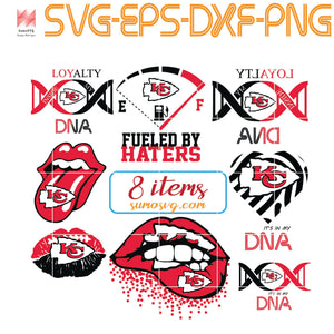 Kansas City Chiefs bundle svg, chiefs svg, chiefs girl svg, chiefs boy svg, chiefs mom svg, nfl svg, football svg, DNA , Fueled by haters, Lip , Skull ,SVG, EPS, DXF, PNG
