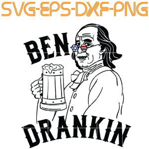 Ben Drankin, tax,  Quotes, PNG, EPS, DXF, Digital Download