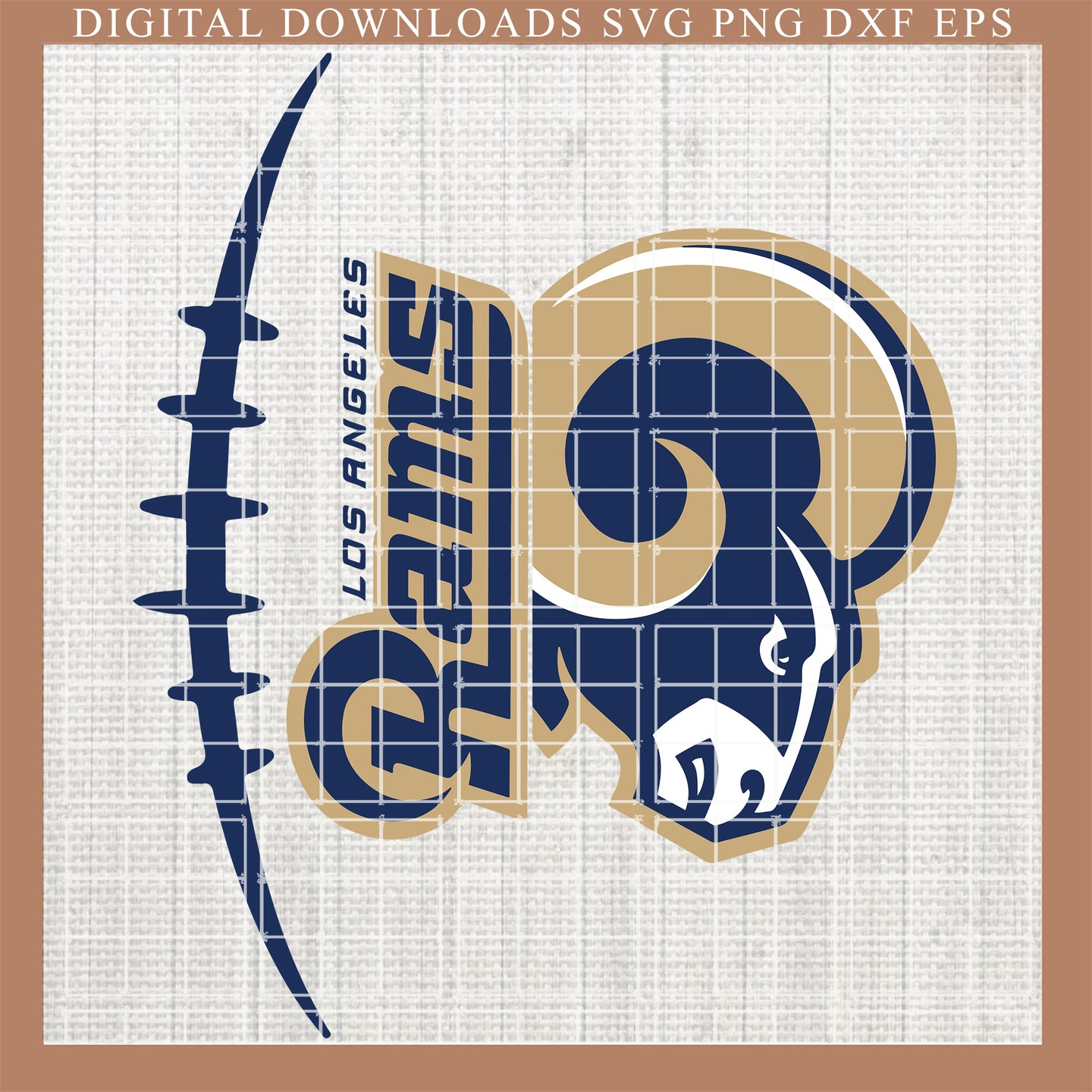 Los Angeles Rams svg, Rams svg , Rams football svg, Rams NFL, Rams skull , Fingerprints, DNA