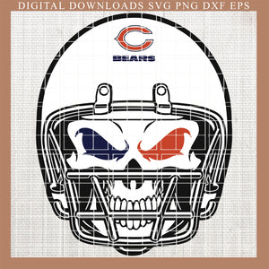 Chicago Bears svg, Bears svg, Bears football NFL , fueled by svg, skull svg , Fingerprints, DNA, nlf