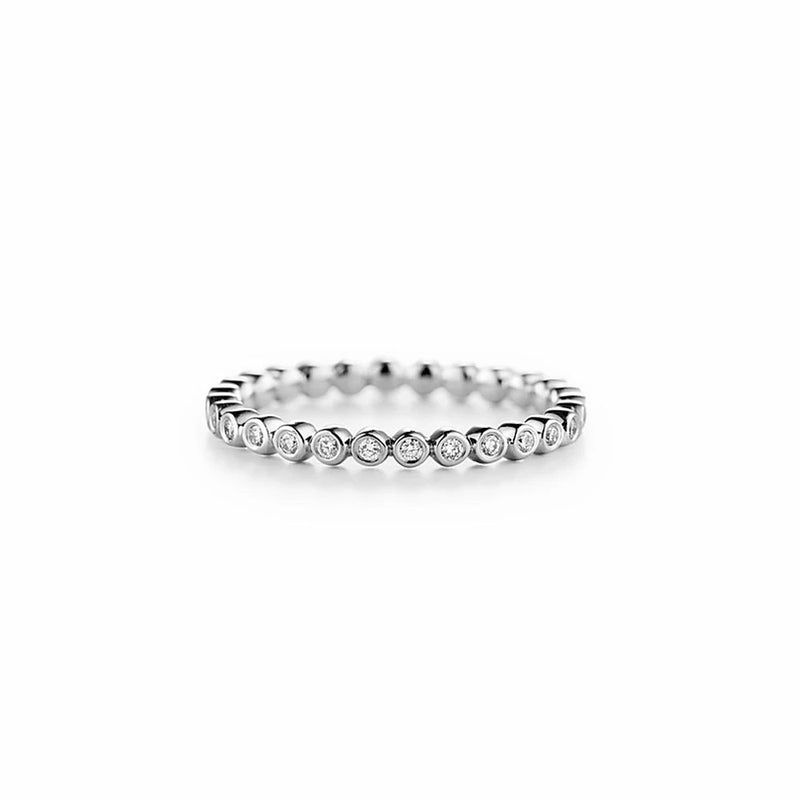 Lovedrops Dainty Bezel Eternity Band