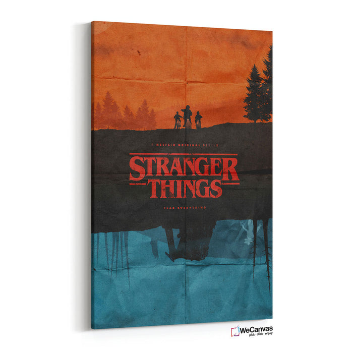 Stranger Things poster red and blue