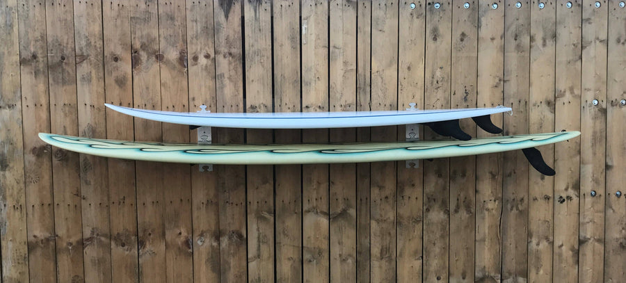 Surfboard wall rack by Puna Surf Company