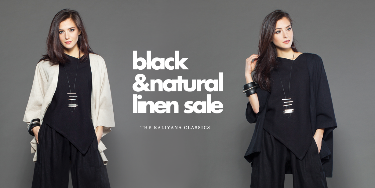 Lookbook: New Black & Natural Linen Sale