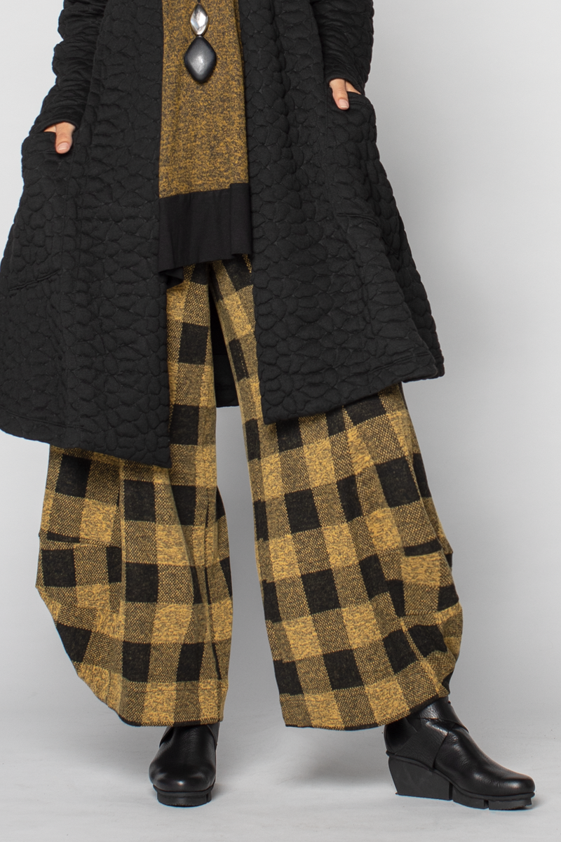 ALEMBIKA Plaid Pant in Honey Plaid