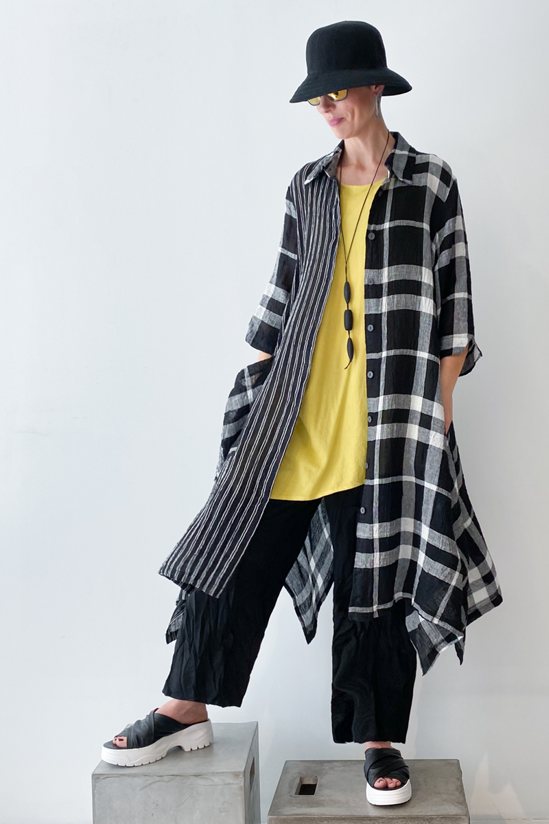 Shown w/ Tasca Tank and Plaid Long Coat