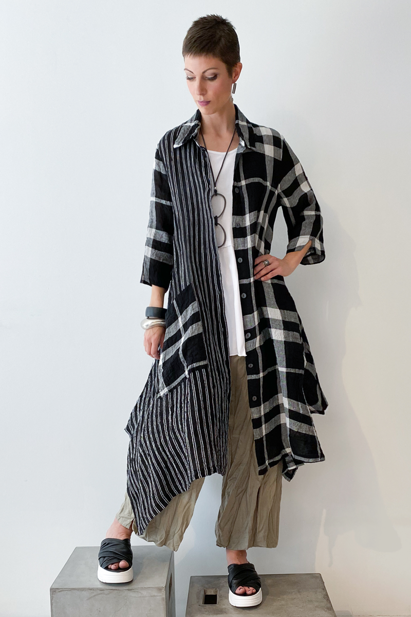 Shown w/ Carmel Tank and Plaid Long Coat