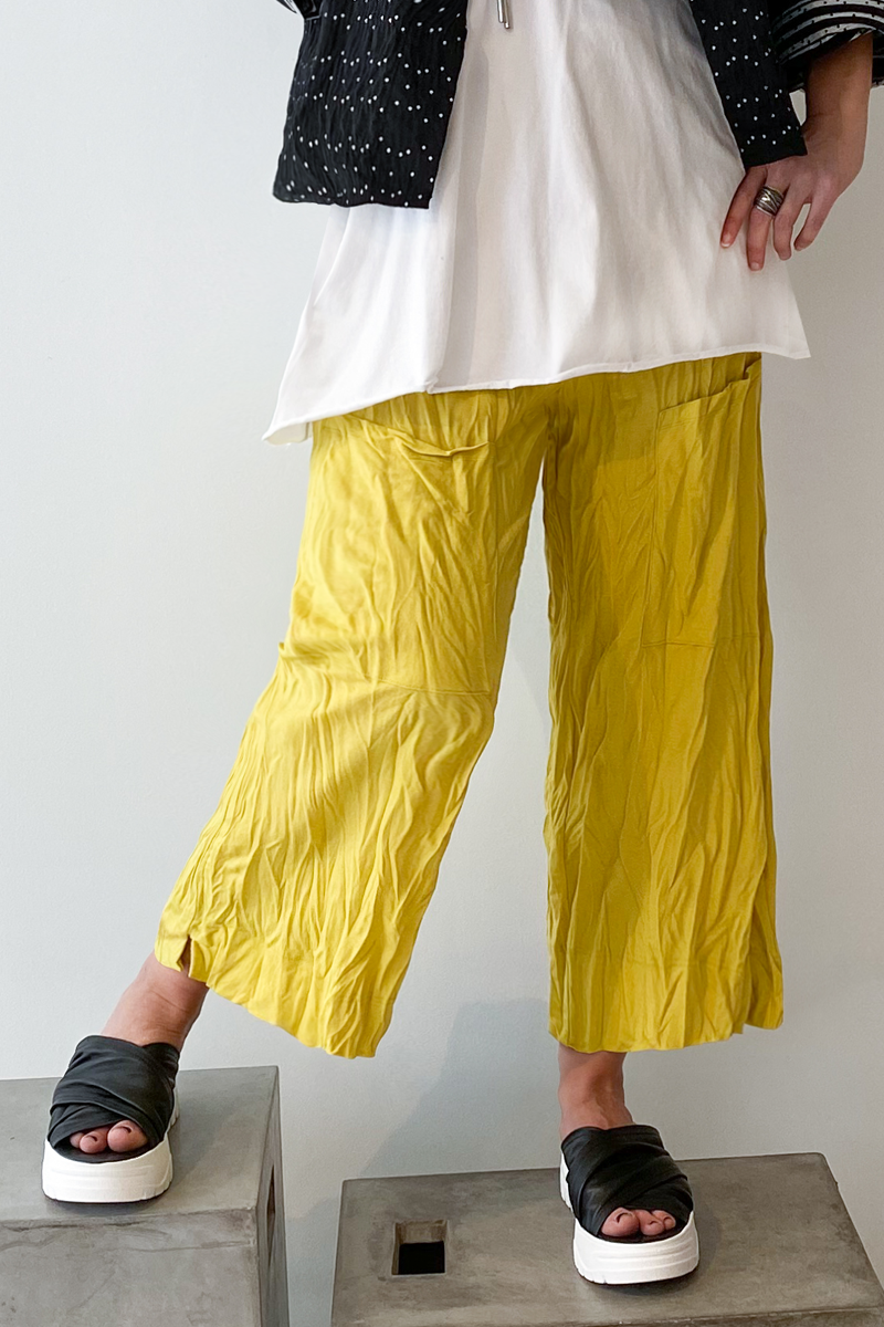 ALEMBIKA Pocket Pant in Lemon Jersey