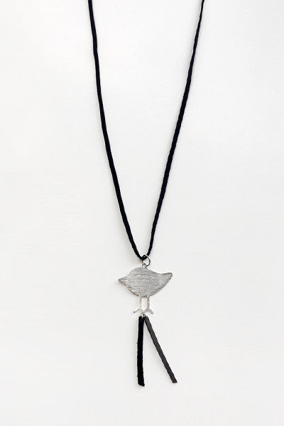Bird Necklace in Silver