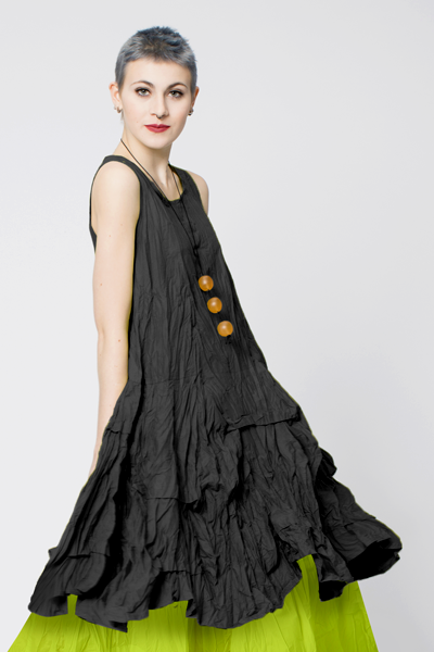 Manifold Dress in Black Carnaby