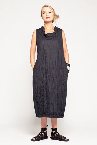 Verbena Dress in Graphite Carnaby