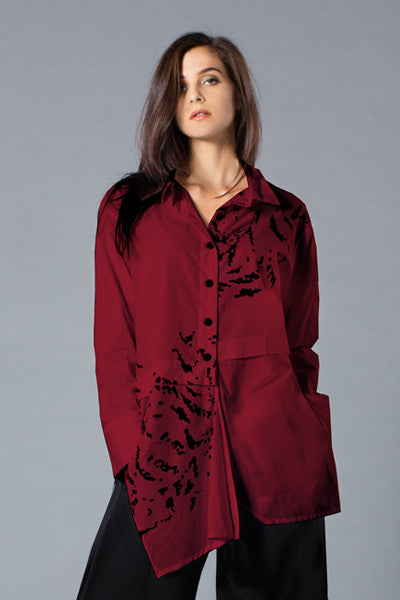 Architect Shirt in Bordeaux Blossom Carnaby