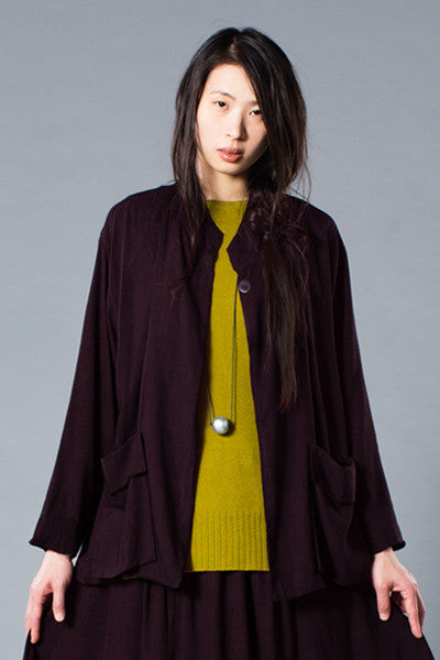 H.P. Jacket in Black Cherry Papyrus