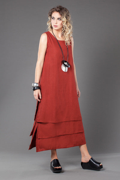 Layer Dress in Brick Roma