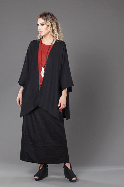 Shown w/ Short Kimono Jacket and Pocket Overlap Skirt
