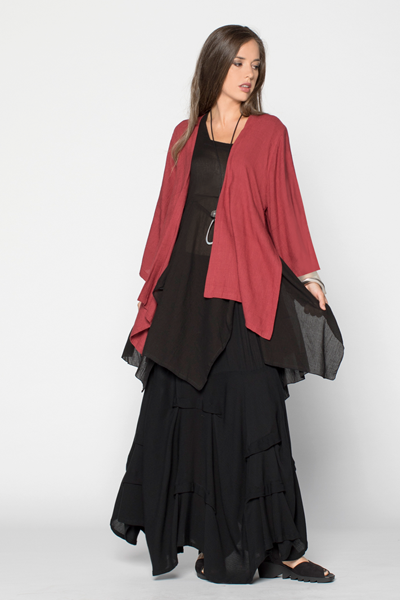 Shown w/ Short Kimono Jacket and Manifold Skirt