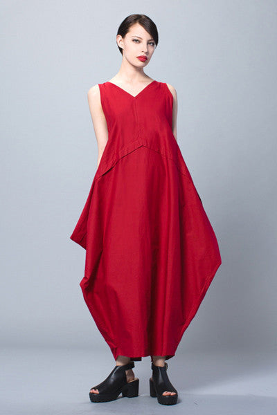 Diamond Dress in Cherry Papyrus