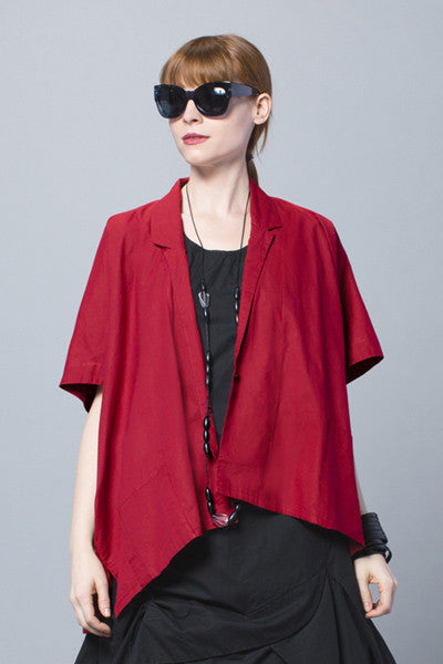 Minimalist Jacket in Cherry Carnaby