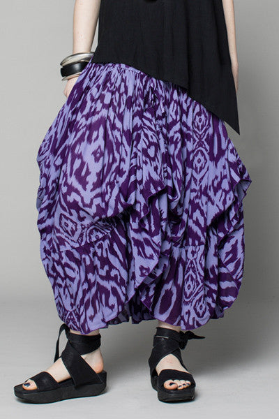 Cassandra Skirt in Crocus Print Delphi
