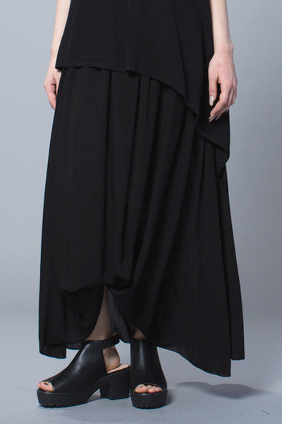 High Low Skirt in Black Delphi