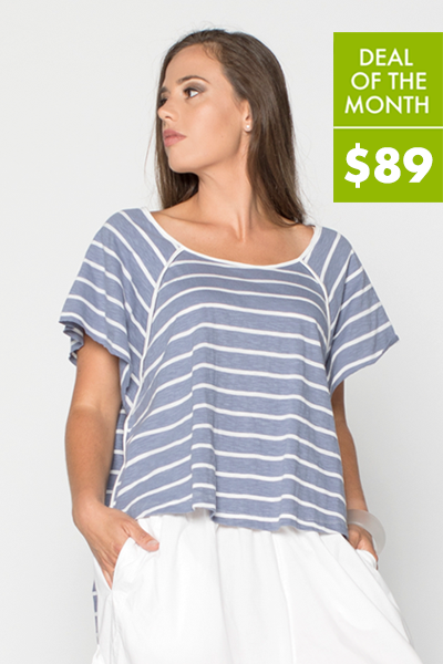 Sailor Top in Stripe Cotton Jersey
