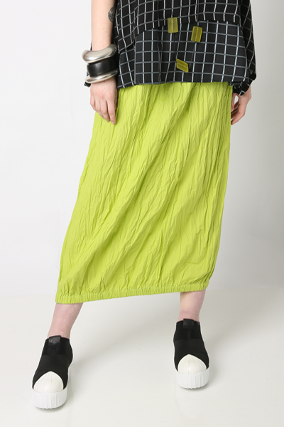 Tunnel Skirt in Citron Carnaby