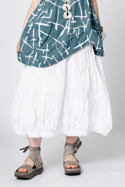 Fab Skirt in White Carnaby