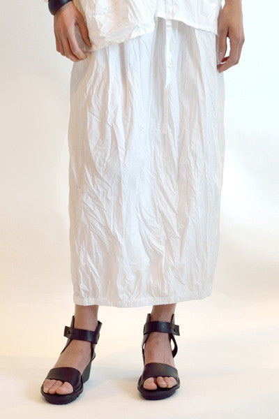 Tunnel Skirt in White Carnaby