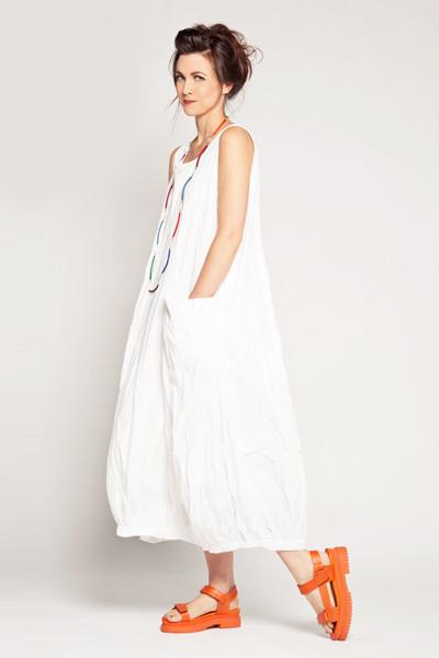 N/S Fab Dress in White Carnaby