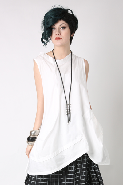 Meteor Tunic in White Carnaby