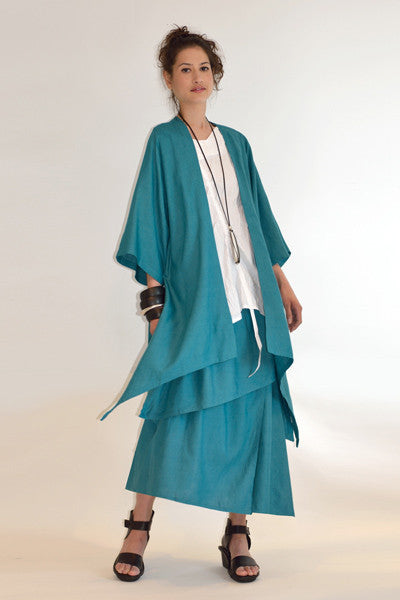 Shown w/ Long Kimono Jacket and Asymmetric Skirt
