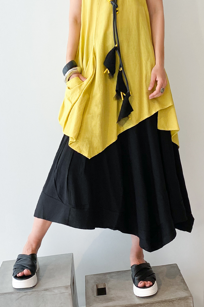 EC Sato Skirt in Black Jersey