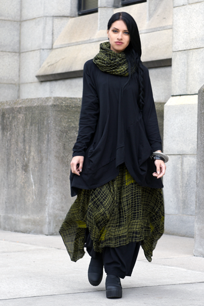 Moka Skirt in Green Elsa Print Delphi