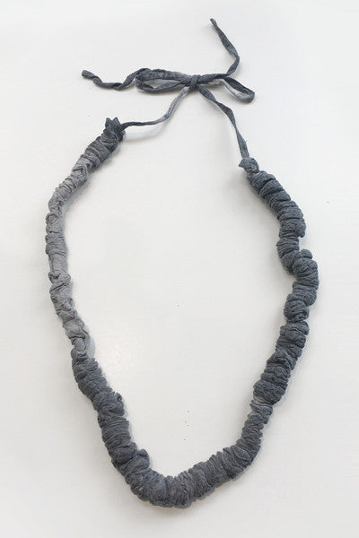 Luv Chain Necklace in Grey Textured