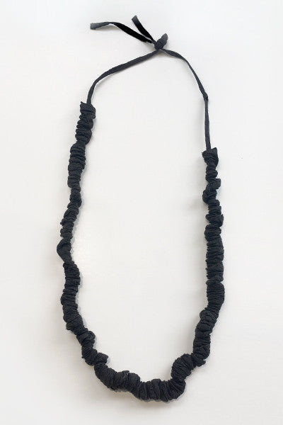 Luv Chain Necklace in Black Textured