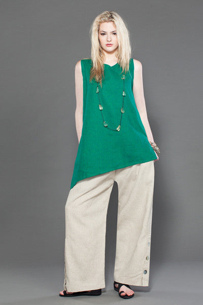 Shown w/ Button Palazzo Pant