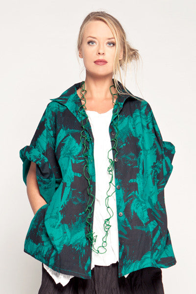 Sami Shirt in Emerald Print Carnaby
