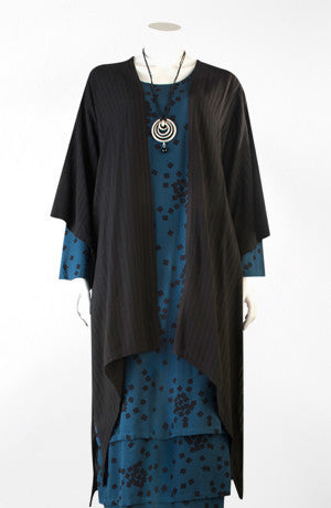 Long Kimono Jacket in Black Fellini