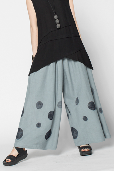 Wide Pant in Grey Rondo Papyrus