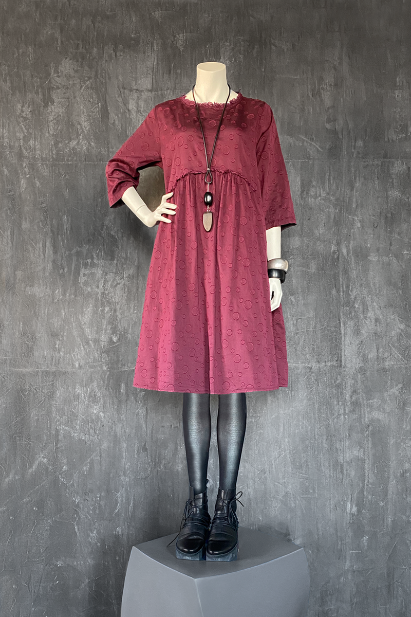 GRIZAS Dots Dress in Berry