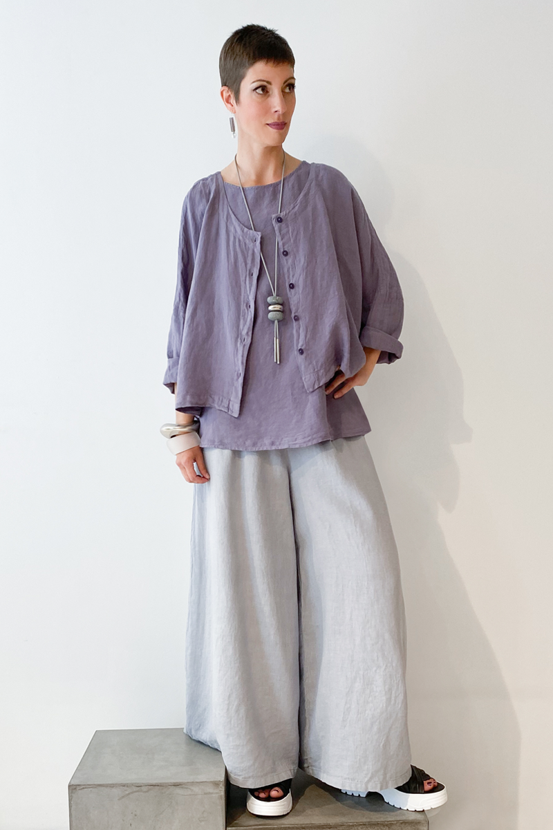 Shown w/ Crop Jacket and Wide Pant
