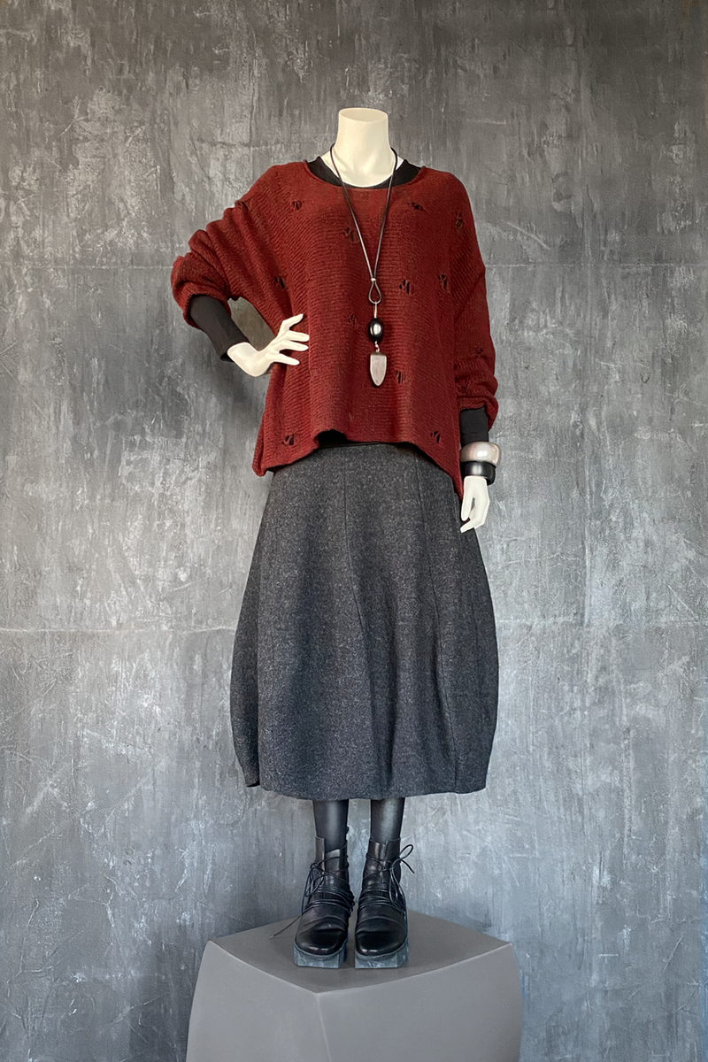 GRIZAS Faro Sweater in Maroon