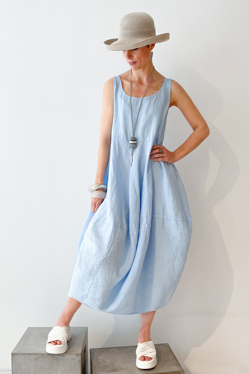 GRIZAS Palloncino Dress in Sky Linen