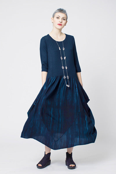 Gerona Dress in Ink Boston