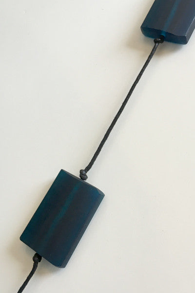 Bloc Necklace in Navy Resin