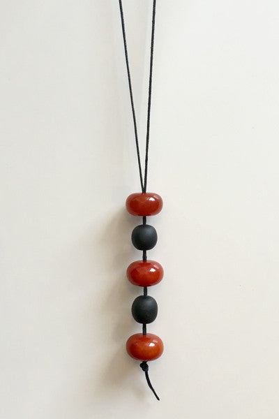 Chestnut Combi Necklace in Carnelian Resin