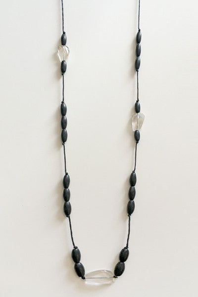 Andromeda Necklace in Crystal/Black Resin