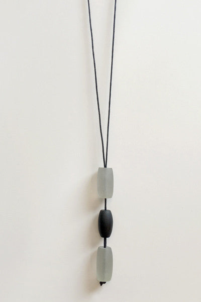 Talia Necklace in Black/White Resin